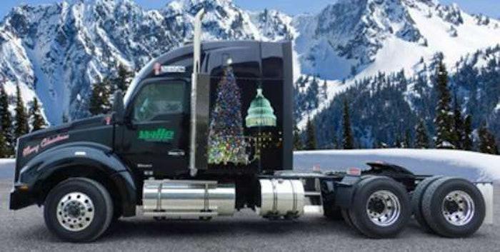 christmas tree truck 1
