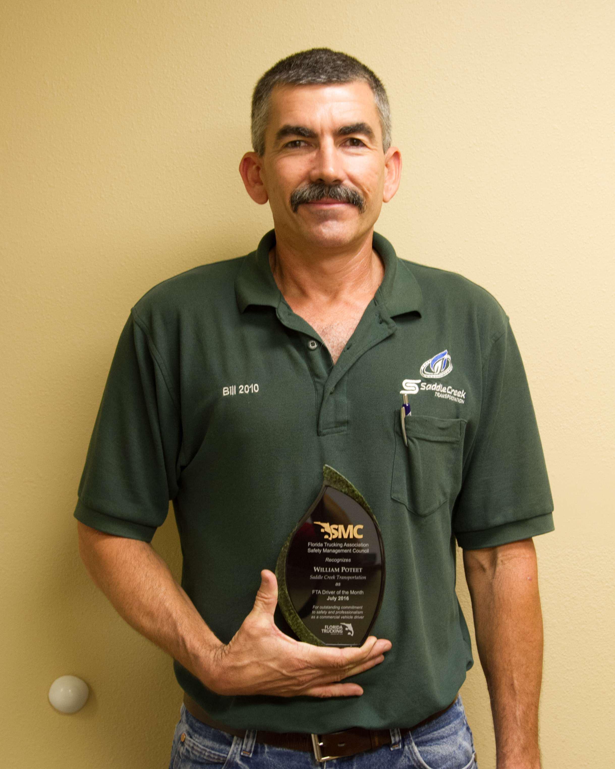 William Poteet, driver for Saddle Creek Transportation