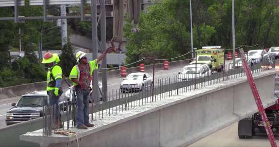 Rebuild of i 85 atlanta moves fast for Ozark motor lines pay