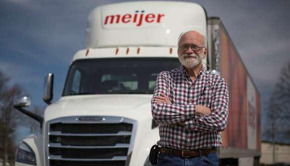 Meijer fleet truck driver Paul Strodtbeck