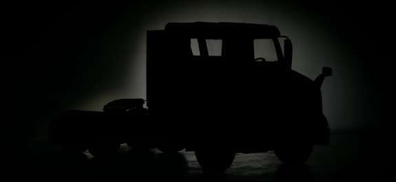 Silhouette of a Volvo truck