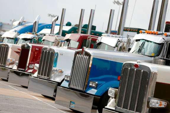 SuperRigs trucks parked
