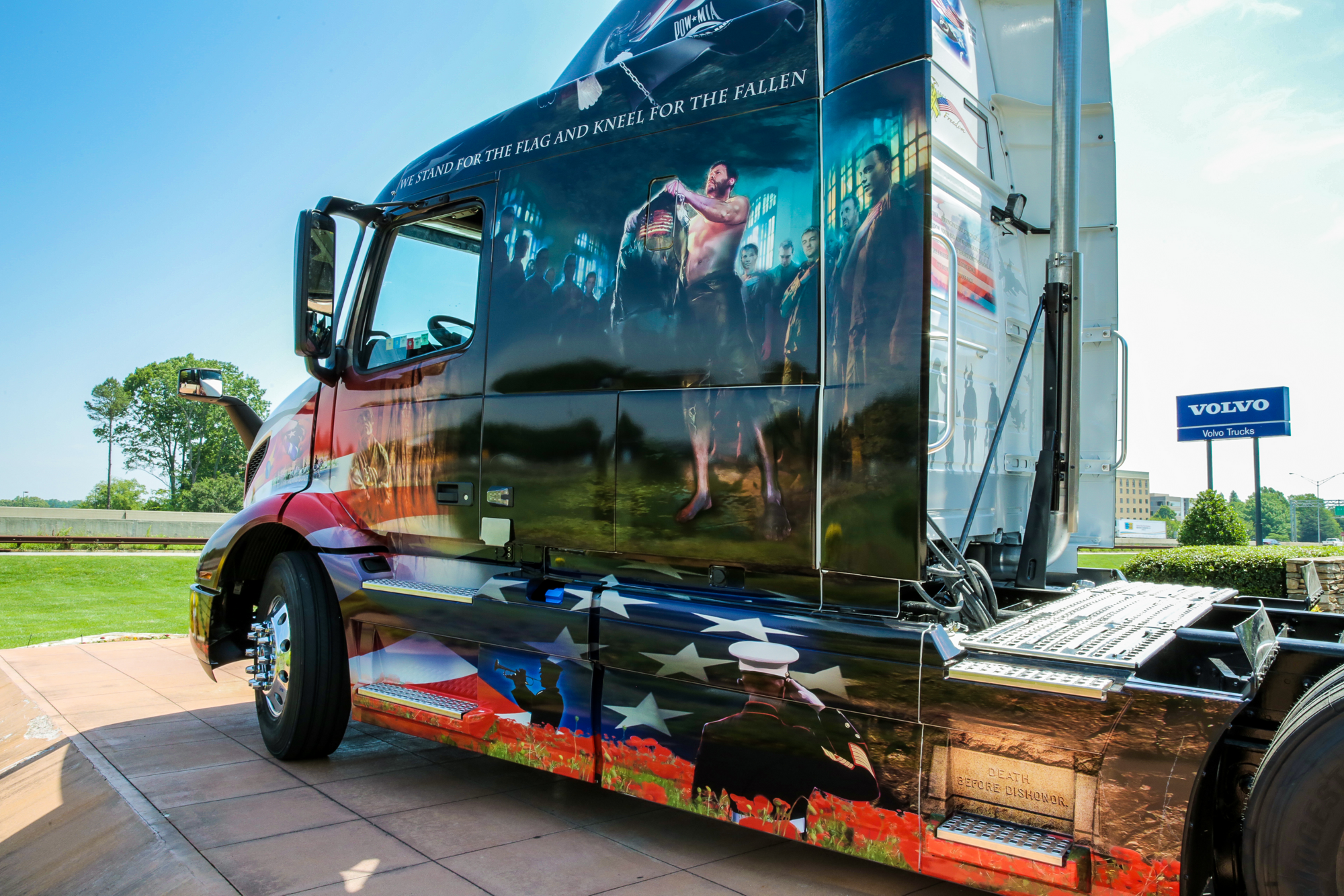 Volvo shows off Ride for Freedom truck
