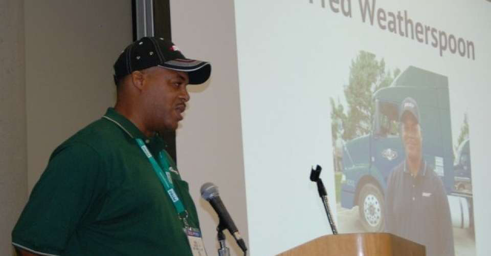 Frederick Weatherspoon, trucking's Top Rookie in 2015