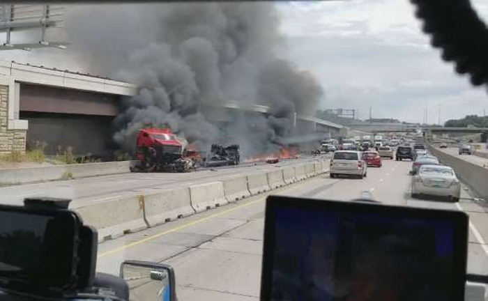 I-435-fire