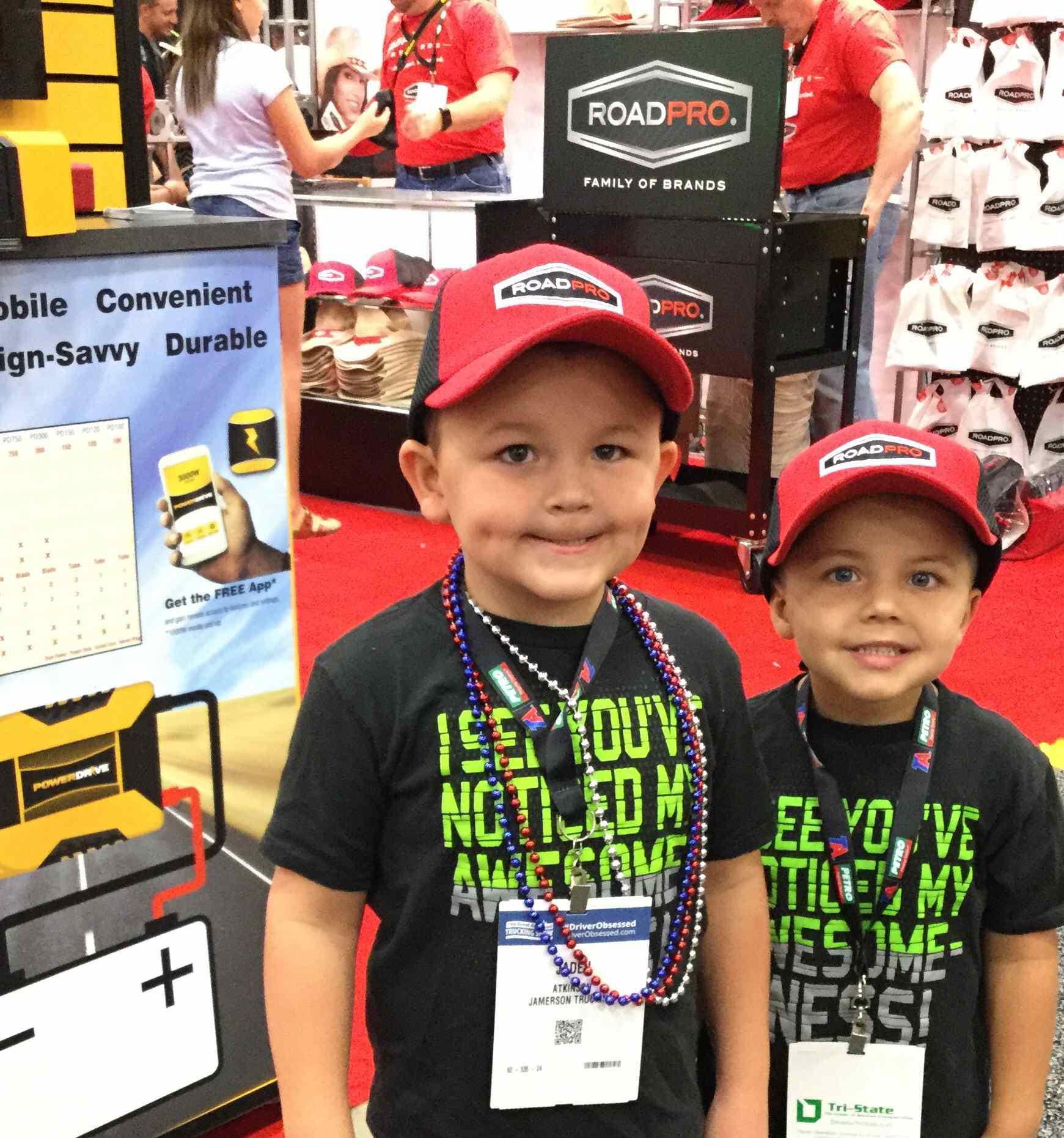 Kids Wearing RoadPro Hats