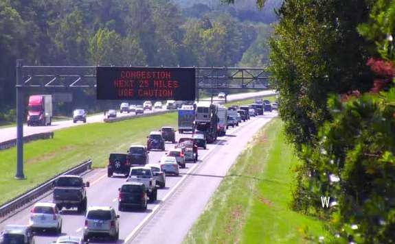 Florida Evacuees in Traffic
