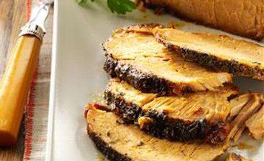 Apple jelly gives this pork roast fall flavor