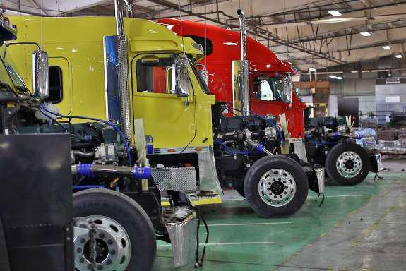 Semi-Trucks in Facility