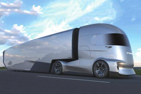 Pictures Of Future Trucks: Ford Shows Off Electric Semi-autonomous Concept Truck