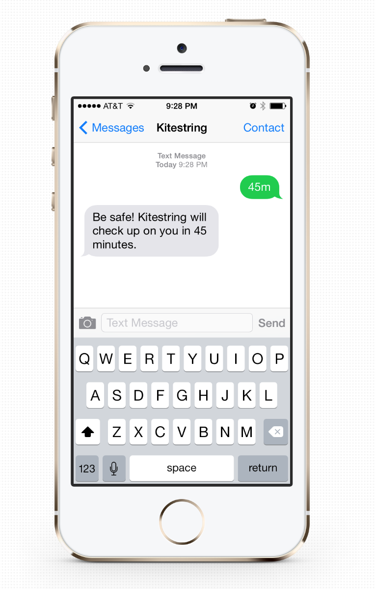 Kitestring is like having someone checking up on you