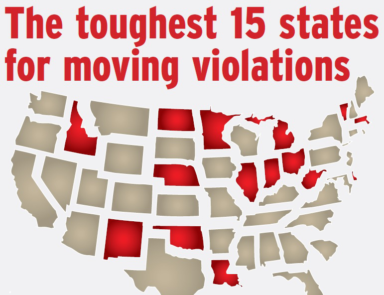 15 Toughest States For Moving Violations