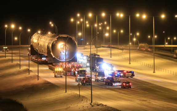 Heaviest load ever hits Alberta highways