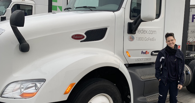 FedEx driver says trucking is what she's meant to do