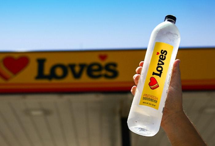 Love's branded water
