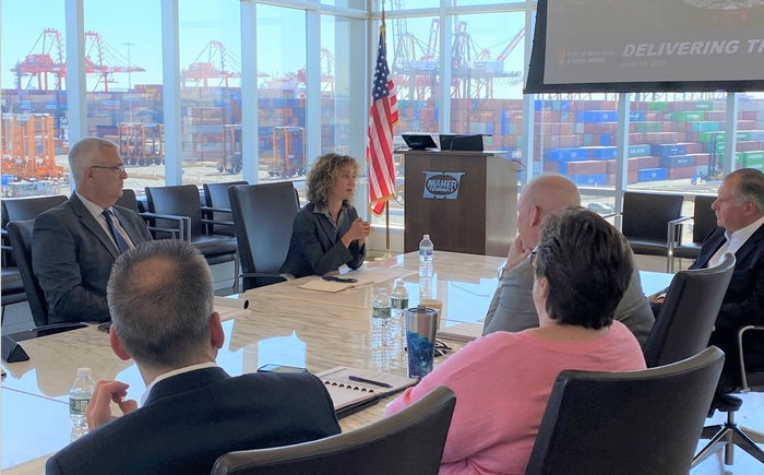 FMCSA Deputy Administrator Meera Joshi meets with port and transportation leaders from New York and New Jersey to discuss supply chain disruptions.