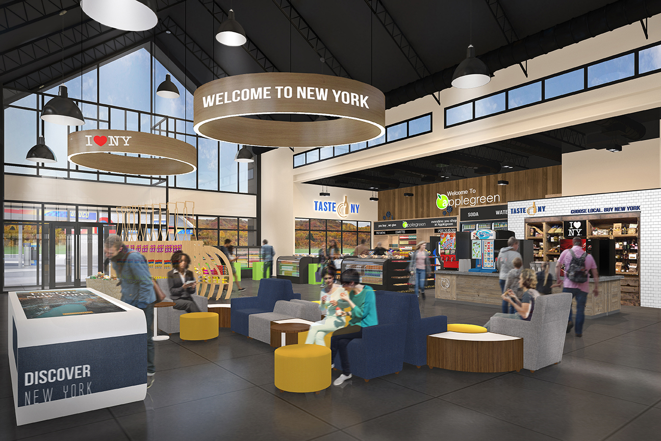 How remodeled rest areas will look inside.