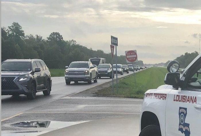 Evacuations are under way along the Louisiana Gulf Coast