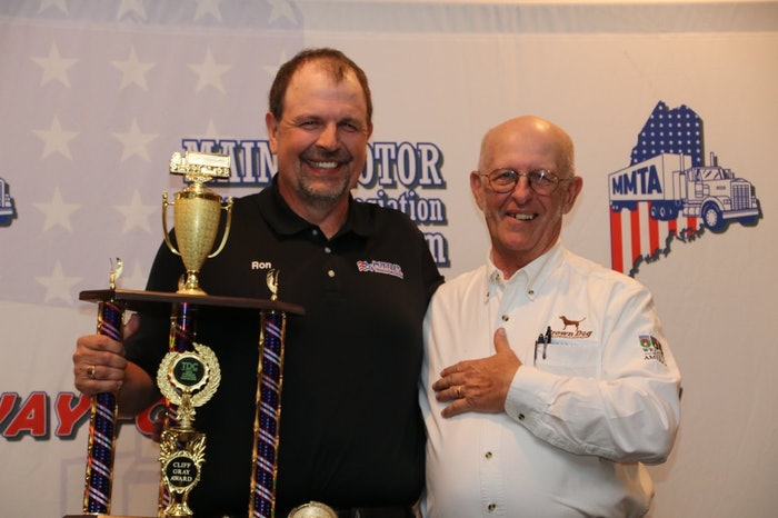 Ron Round (left) was named the Grand Champion of the ATA National Truck Driving Championships.