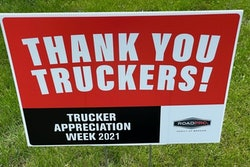 Ta Thank You Sign Placed