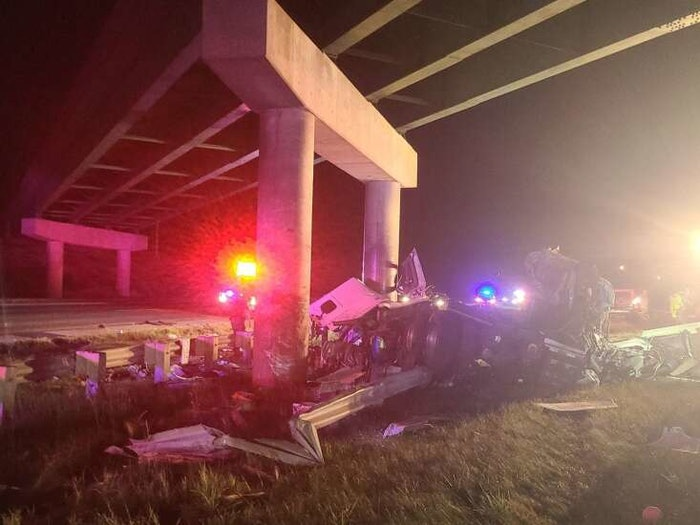 This single-vehicle crash occurred at about 9:50 p.m. in the area of Highway 30 and Highway 100, in Cedar Rapids, Iowa.